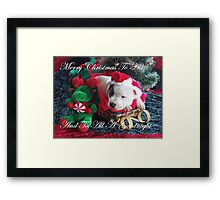 Merry Christmas To All Framed Print