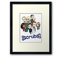 Scrubs Cartoon Framed Print