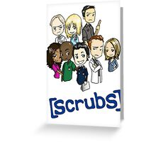 Scrubs Cartoon Greeting Card
