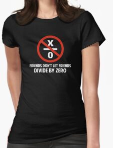 Friends Don't Divide by Zero Womens Fitted T-Shirt