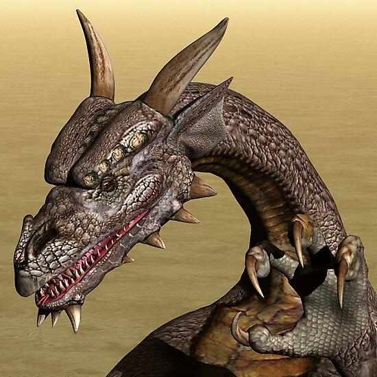 Playful Dragon by Lisa  Weber