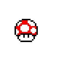 Mario Bros Mushroom Pixel Art by VideoGameMaster