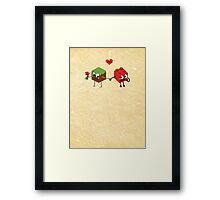 Building Love  Framed Print