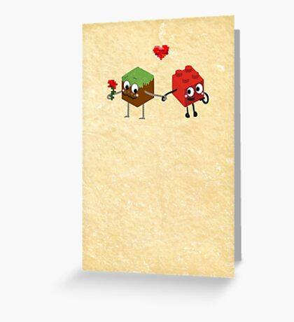 Building Love  Greeting Card