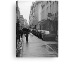 Woman in the Rain, Rue Jacob Metal Print
