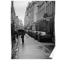 Woman in the Rain, Rue Jacob Poster