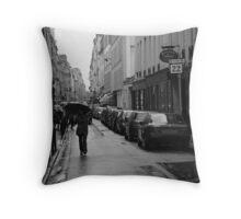 Woman in the Rain, Rue Jacob Throw Pillow