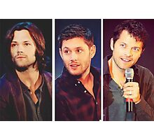 Jared Padalecki, Jensen Ackles, and Misha Collins Photographic Print