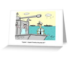 pointy ship Greeting Card