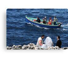 Wedding at Blue Grotto Canvas Print