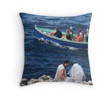Wedding at Blue Grotto Throw Pillow