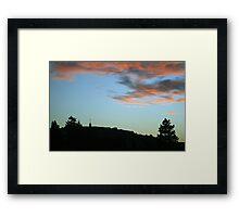 Peaceful Sunset over Laferla Cross  Framed Print