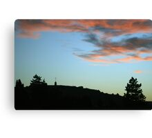 Peaceful Sunset over Laferla Cross  Canvas Print