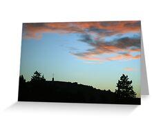 Peaceful Sunset over Laferla Cross  Greeting Card