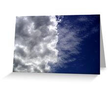 Ive looked at clouds from both sides now Greeting Card