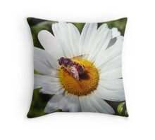 Bee and Daisy Throw Pillow