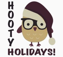 Hipster Hooty Holidays! Kids Tee