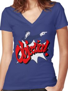 Objection Women's Fitted V-Neck T-Shirt