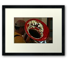 Band at the feast Framed Print