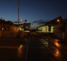 Barmouth Station by Night. by Weasellady