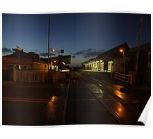 Barmouth Station by Night. Poster
