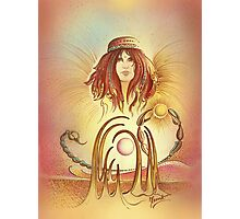 """""""THE SCORPIO"""" - Protective Angel for Zodiac Sign Photographic Print"""