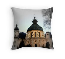 The Abbey of Ettal Throw Pillow
