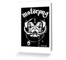 motorpug Greeting Card