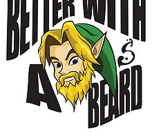 Link Better With a Beard by ShirtSauce