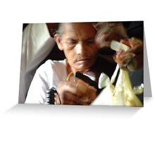 on the train to Anuradhapura Greeting Card