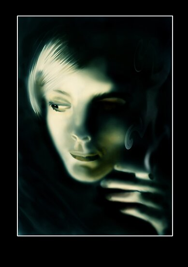 Smokin Girl by Mark Devas