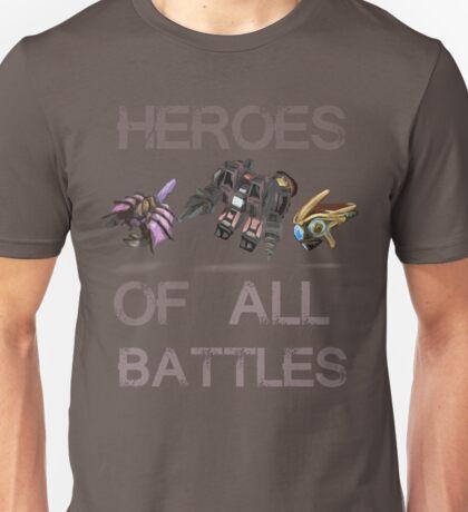 SC2-Heroes Of All Battles Unisex T-Shirt