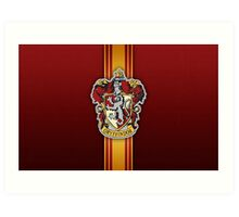 Gryffindor Ribbon Art Print