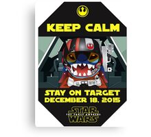Keep Calm, Stay on Target! Canvas Print