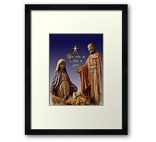 Unto Us a Child is Given Framed Print