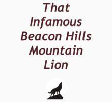 That Infamous Beacon Hills Mountain Lion Kids Clothes
