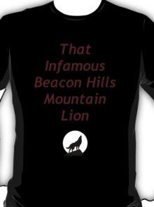 That Infamous Beacon Hills Mountain Lion T-Shirt