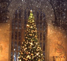 Hogwarts at Christmas Sticker