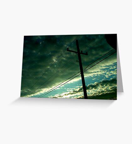 Traffic Sunrise Greeting Card