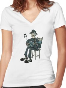 The Blues... Women's Fitted V-Neck T-Shirt