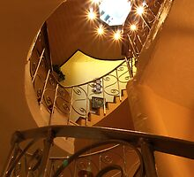 Michael Davies - Lantern Room and Spiral Staircase  at the West Usk Lighthouse by Danielle  Sheahan