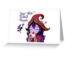 Lulu - That Tasted Purple Greeting Card