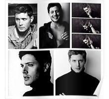 Jensen Ackles + Black & White = Blackles Poster