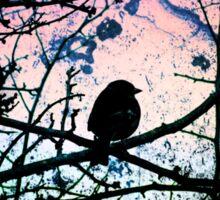 Stain Glass Bird Sticker
