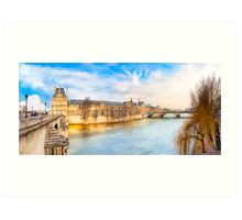 The Louvre On A Winter Day in Paris Art Print