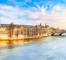 The Louvre On A Winter Day in Paris by Mark Tisdale