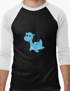 Cute little Loch Ness Monster Men's Baseball ¾ T-Shirt