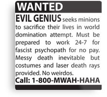 Minions Wanted Metal Print