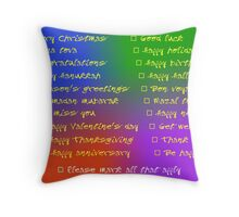 All occasion greeting card Throw Pillow