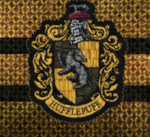 Hufflepuff Knitted Sticker